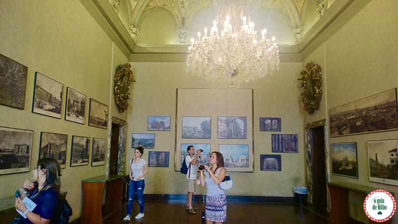 Sala dell'Urbanistica Museu Palácio Marino em Milão