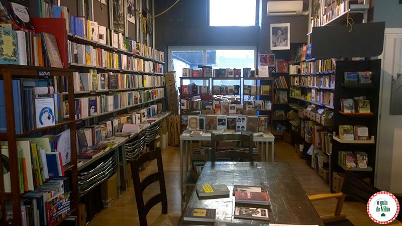 Blog de viagem de Milão na Itália Livraria em Milão