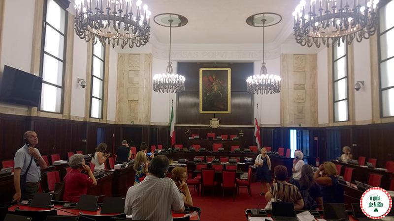 Sala del Consiglio Comunale Museu Palácio Marino Milão
