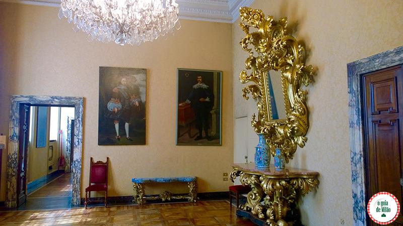 Sala gialla Museu Palácio Marino em Milão