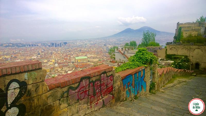 Nápoles Itália Vista panorâmica de Posillipo