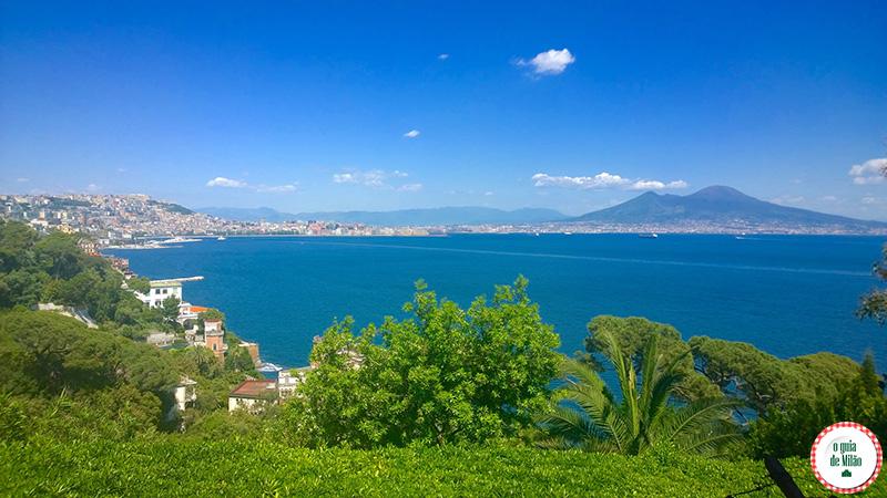 Vista panorâmica de o Vulcão de Nápoles Vesúvio