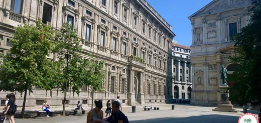 Arquitetura em Milão o Palácio Marino