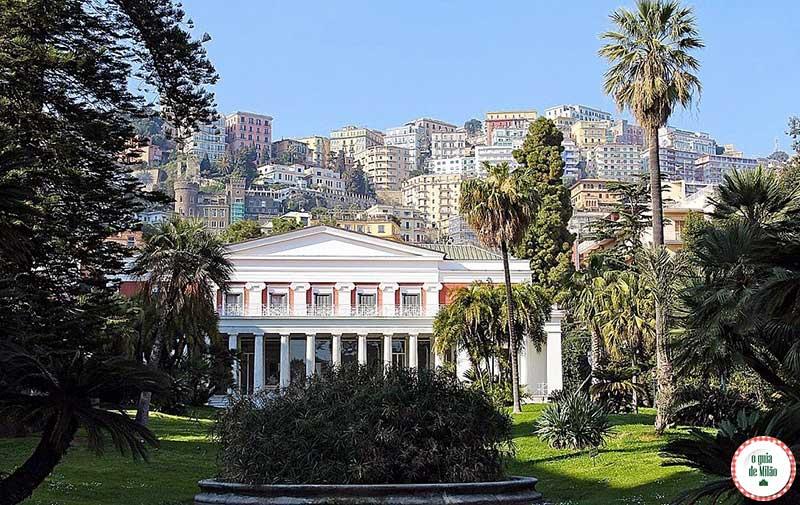 O que ver em Nápoles Itália Villa Pignatelli
