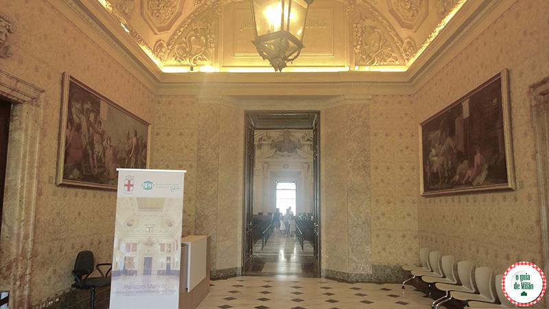 Sala delle tempere Palácio Marino Milão