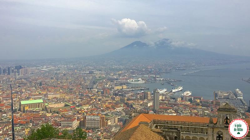 Top 10 pontos turísticos Nápoles Vista do Castelo Sant'Elmo