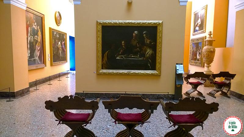 Arte e cultura em Milão Blog de viagem Cena in Emmaus Caravaggio Pinacoteca de Brera