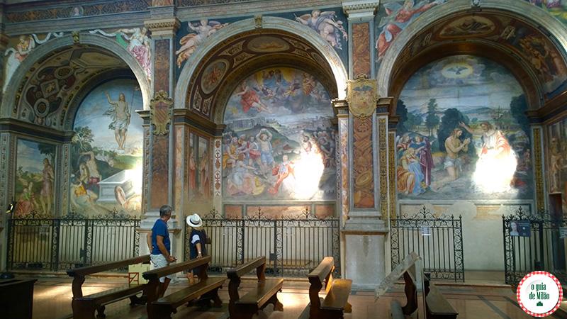 Igrejas em Milão Igreja San Maurizio Milão a Capela Sistina de Milão