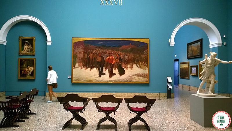 Museus de arte em Milão Fiumana Pellizza da Volpedo Pinacoteca de Brera