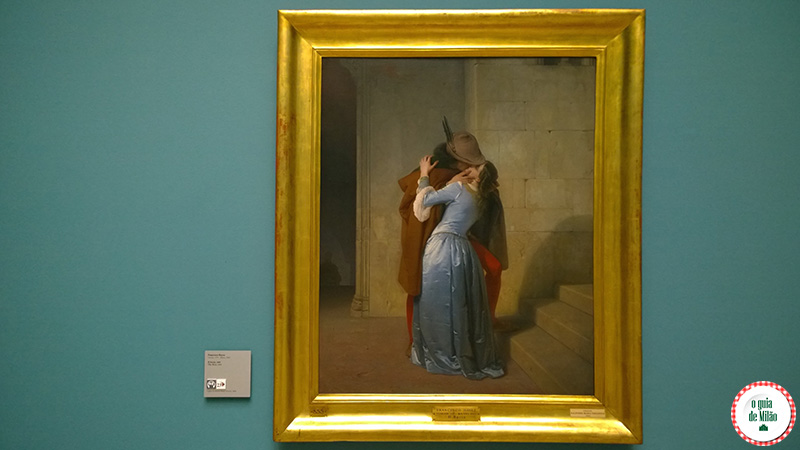 Museus Cultura e Arte em Milão Il bacio Hayez Pinacoteca de Brera