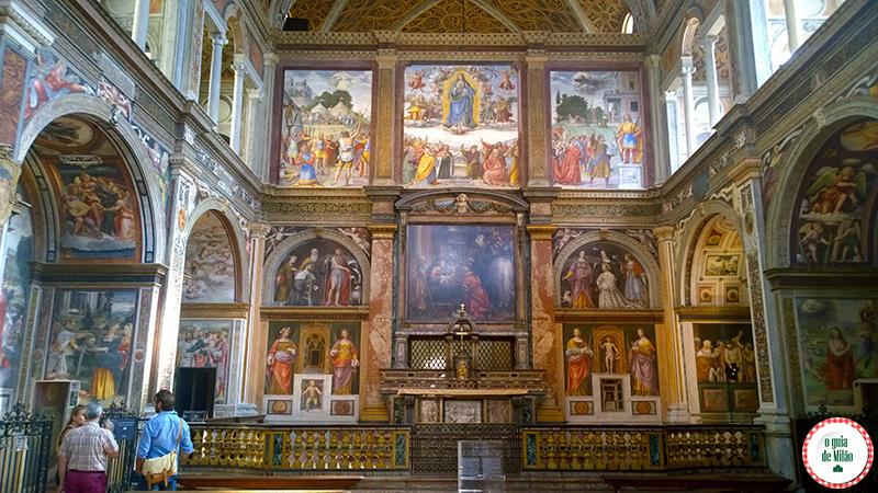 os pricipais Pontos turísticos de Milão Igreja San Maurizio a Capela Sistina de Milão