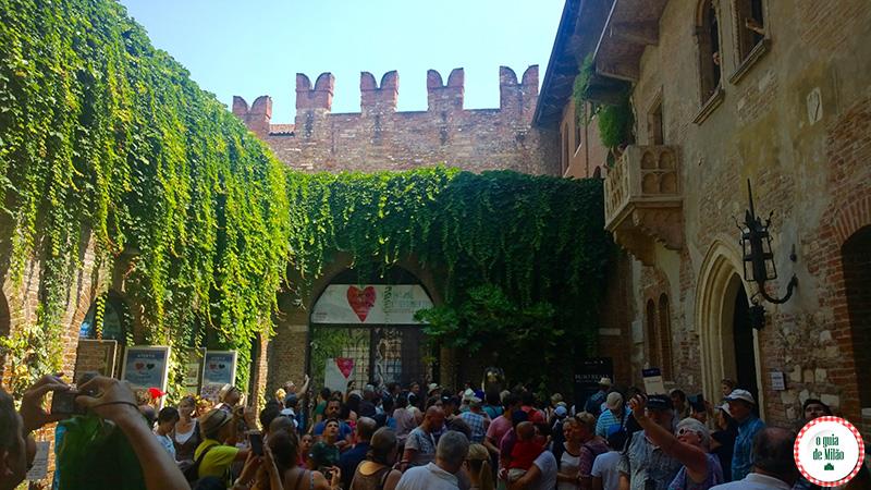 A casa da Julieta em Verona Itália