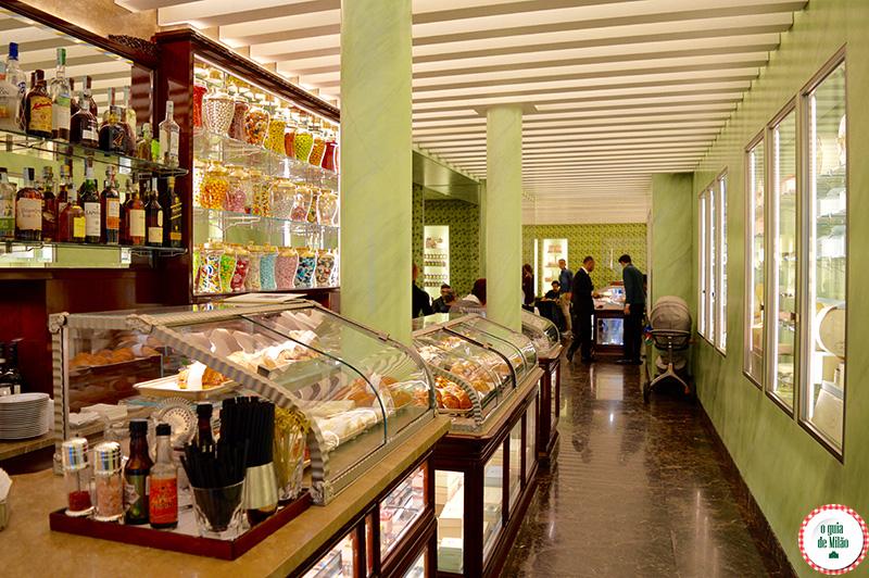 Confeitaria Docerias em Milão do grupo Prada