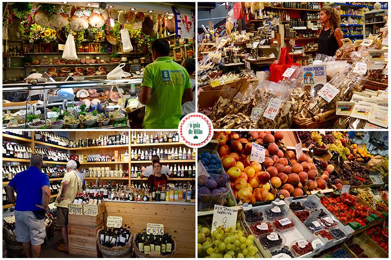 Mercado de rua em Florença Gastar pouco para comer em Florença