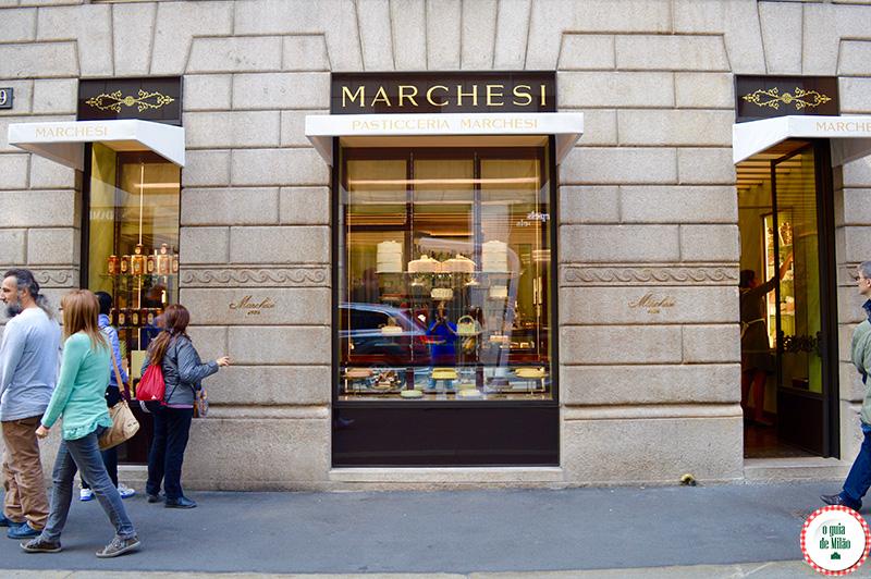 Dica de confeitaria em Milão no quadrilátero da moda em Milão