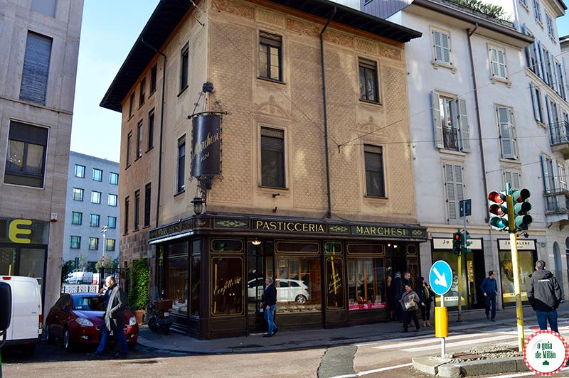 Dica de confeitaria em Milão comida típica milanesa
