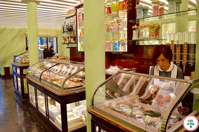 Doceria Prada Onde comer em Milão no quadrilátero da moda