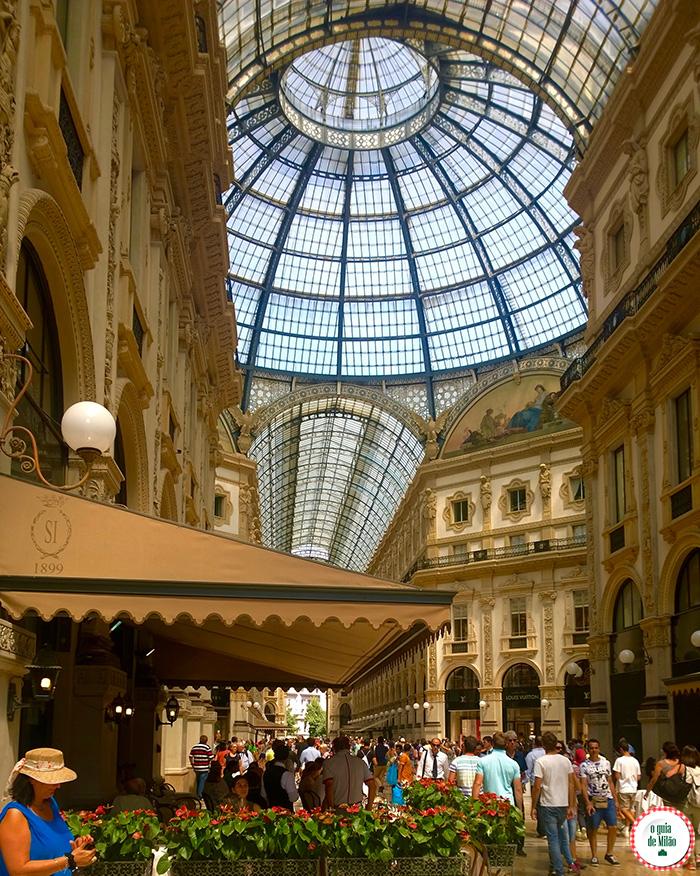 Galleria Vittorio Emanuele II Milão Turismo em Milão Dicas de Milão Itália