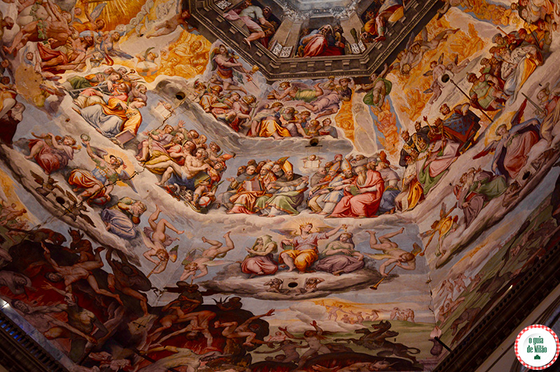Igrejas em Florença Dicas os afrescos do Vasari da cúpula do Brunelleschi