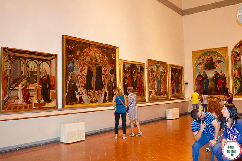 Museus em Florença o museu do Davi de Michelangelo em Florença na Galleria Accademia Florença