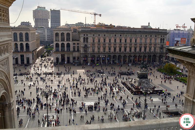 Turismo Milão Arquitetura vista panorâmica na galeria de Milão