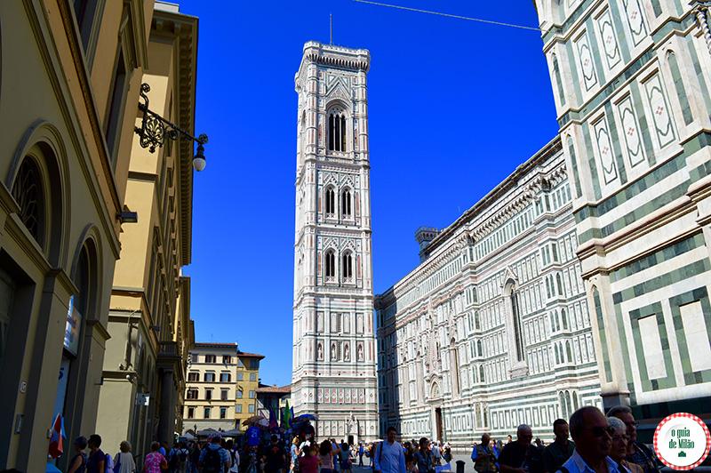 Pontos turísticos de Florença o campanário de Giotto