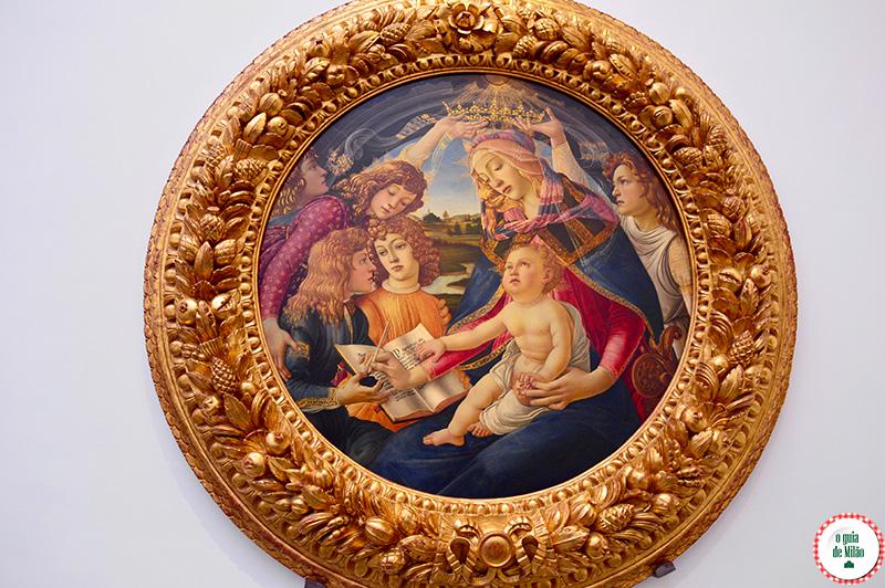 Turismo Florença Itália Botticelli A Madona do Magnificat