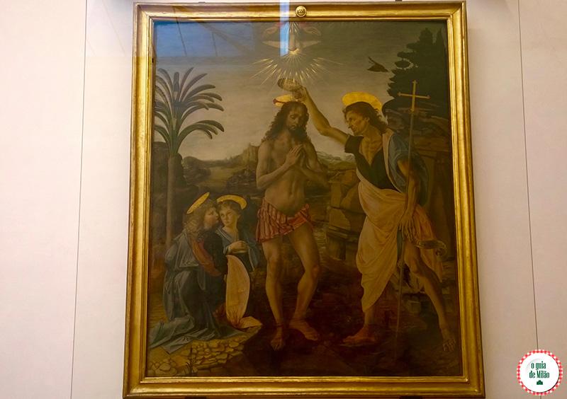 Turismo em Florença Leonardo da Vinci na Galeria Uffizi de Florença
