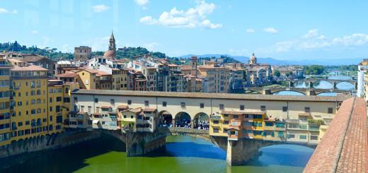 Passeio a pé no Centro Histórico Florença no ponte velho de Florença