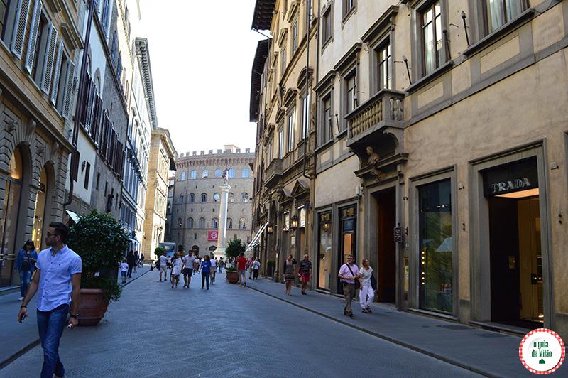 pontos turísticos de Florença Rua de compra em Florença