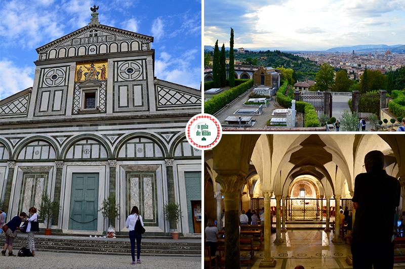 principais pontos turísticos de Florença Igrejas em Florença com vista panorâmica da cidade