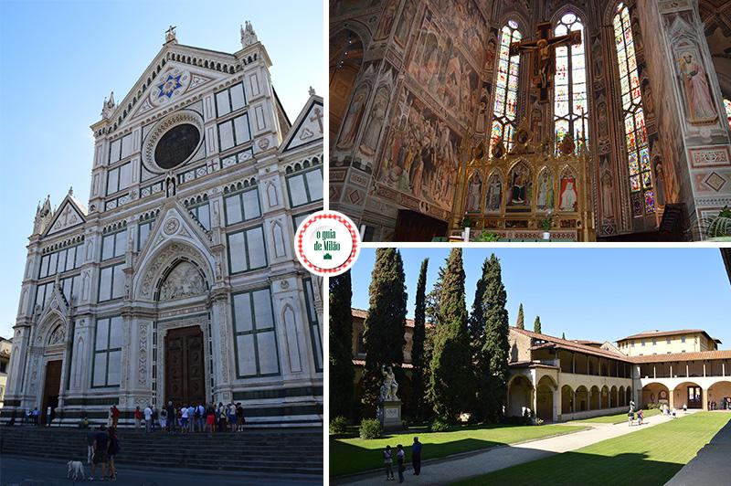 principais pontos turísticos de Florença Turismo e Cultura na basílica de Santa Croce Florença Itália