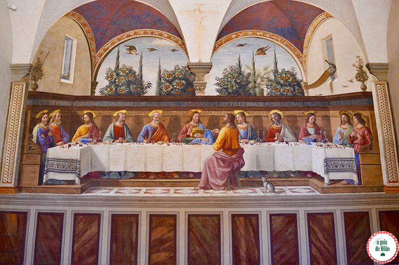Arte museus e cutura em Florença A última ceia Ghirlandaio