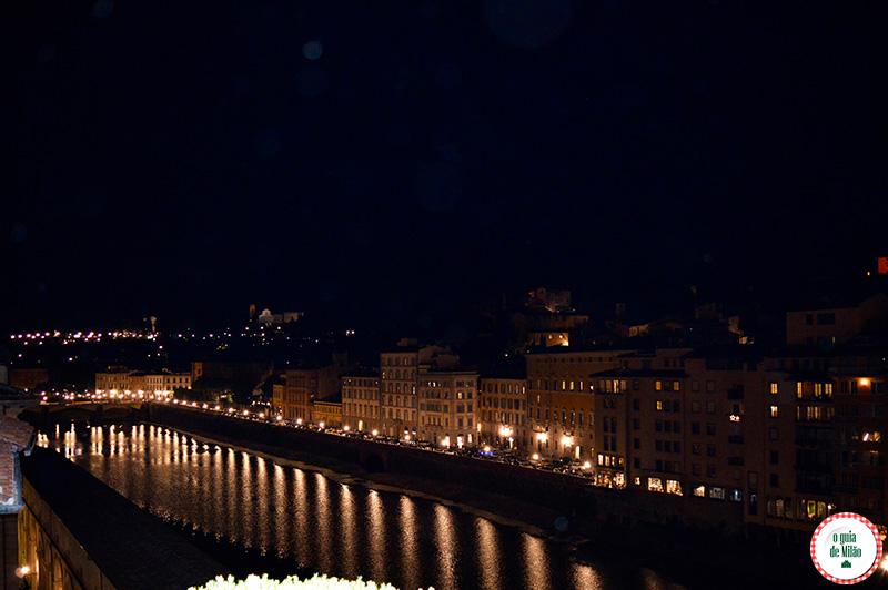 Noite em Florença bares com Vista panorâmica de Florença