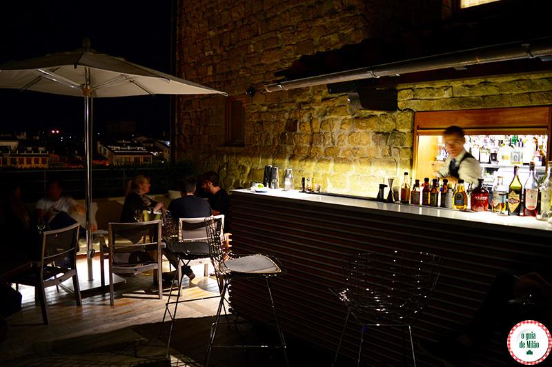 Florença à noite Bares com Vista panorâmica de Florença