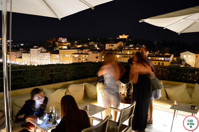 Noite em Florença Terraço com Vista panorâmica de Florença