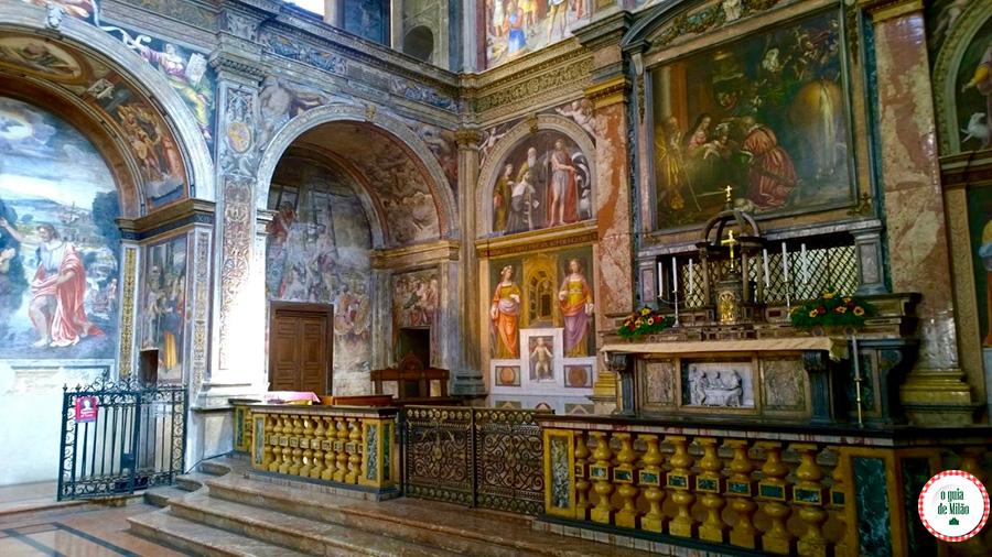 O que fazer em Milão igreja de San Maurizio no bairro Magenta