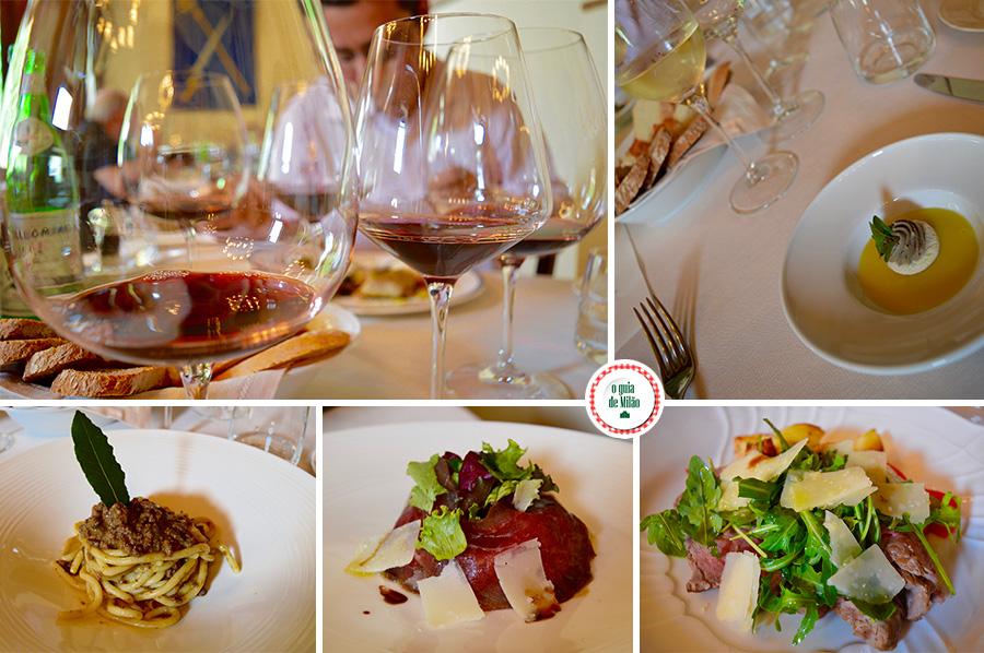 Restaurantes na Toscana Itália