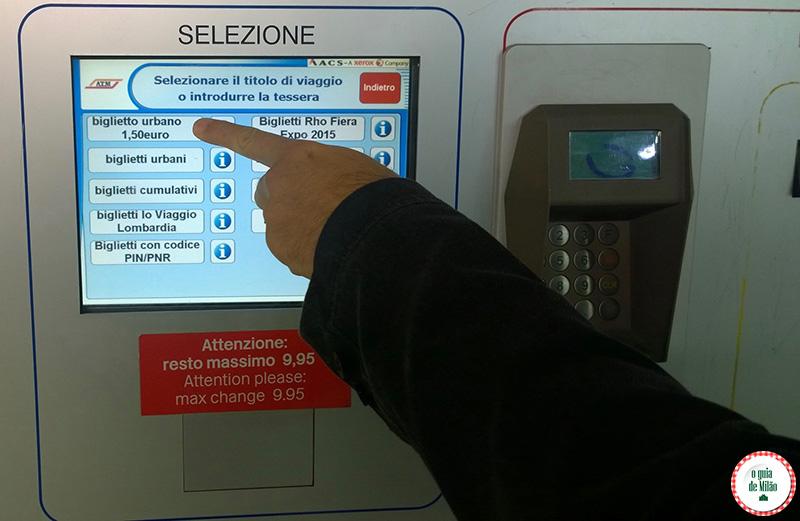 onde e como comprar bilhete para o metrô ônibus e bonde em Milão
