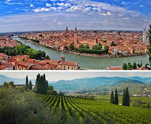 Excursões para Verona a cidade de Romeo e Julieta degustações vinho regiões Amarone di Valpolicella.