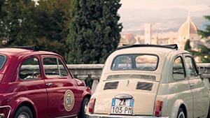 Excursão vintage com carro em Fiat 500 perla Toscana e Florença