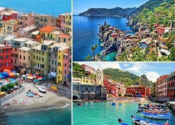 Tour excursão bate volta Milão as Cinque Terre cruzeiro Monterosso e Vernazza Património Mundial da UNESCO