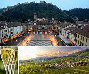 de Veneza excursõe cidades medievais com degustação vinho prosecco di Valdobbiadene cidade Marostica Bassano del Grappa Asolo Treviso