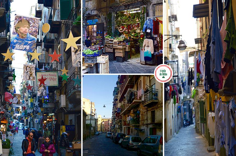 Turismo em Nápoles Os varais da cidade