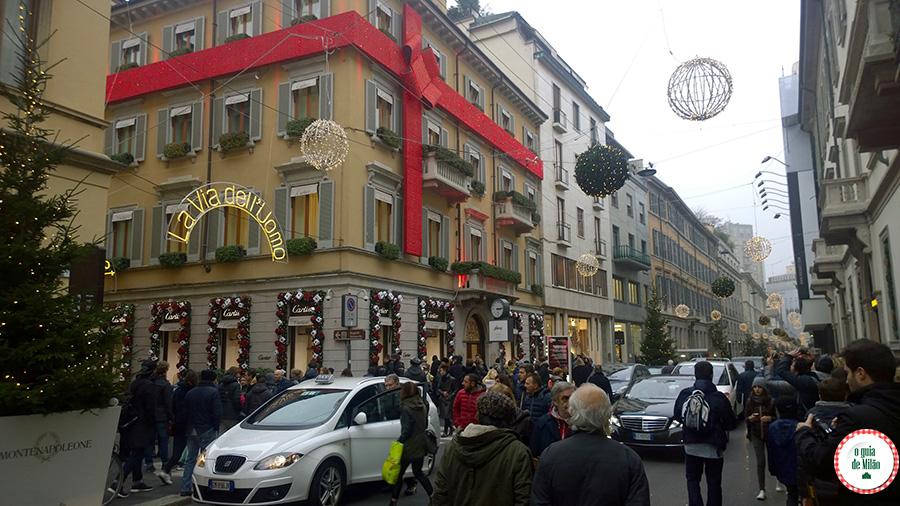 Compras em Milão Via Monte Napoleone Milão