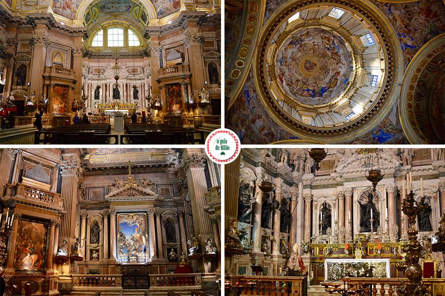 Igreja de Nápoles Interior da Catedral de Nápoles