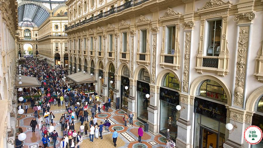 Pontos de interesse em Milão Galleria Vittorio Emanuele II