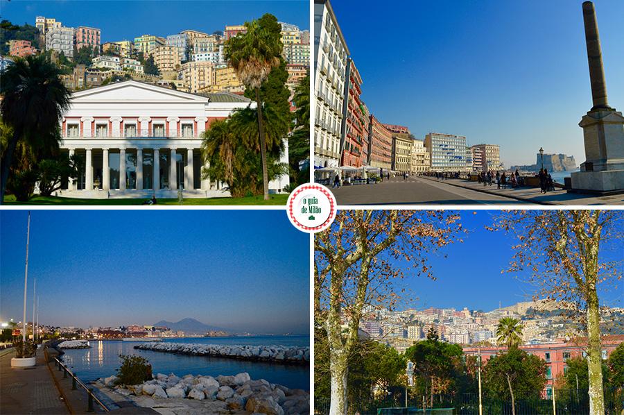 Paisagens da cidade de Nápoles na Itália