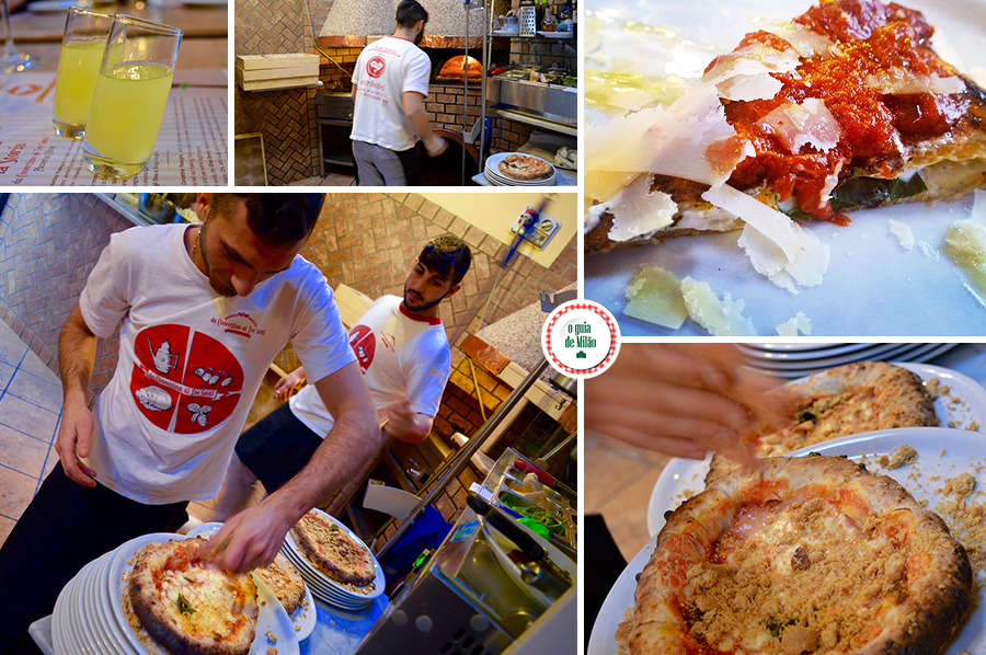 Pizza em Nápoles tradicional pizza italiana