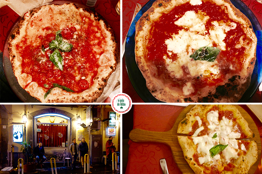 Pizzarias em Nápoles a verdadeira massa Italiana de pizza